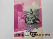 nsu 200 super lux  catalogue publicitaire