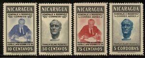 Nicaragua 1946 Franklin Roosevelt set Sc# 695/C276 NH