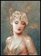 Art Deco Lady 35 - Chart Counted Cross Stitch Patterns Needlework DIY DMC