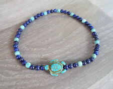 Lapis and turquoise anklets,stone anklets,men and women anklets,fashion