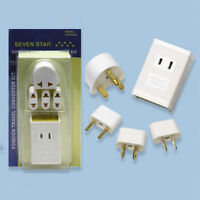 TRAVEL POWER CONVERTER ADAPTER 1600W 4 PLUGS 220-110 V TRANSFORMER CHARGER NEW !