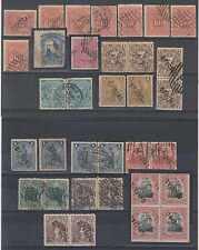 URUGUAY 1880-97 OFF HS ASSORT INCLUD O14&O27 WITH SHIFT HS O62, O63, O72 BLOCK