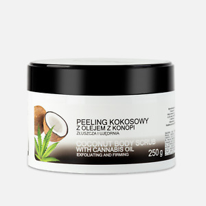 Coconut Body Scrub With Cannabis Oil - Exfoliating And Firming - 250g