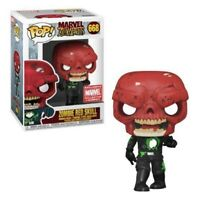 Funko POP Marvel Zombies #668 Zombie Red Skull MCC Exclusive W/ Protector