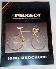 Vintage Peugeot Bike Cycle Bicycle Folded Brochure 1986