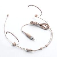 1pcs Headset Headworn Microphone Earhook Head Mic For Sennheiser Wireless Beige