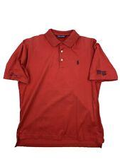 Polo Golf Ralph Lauren Men Pima Cotton Red Short Sleeve Branded Polo Shirt Small