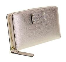 NWT Kate Spade New York Neda Wellesley Zip around Leather Wallet Rose Gold