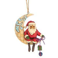 JIM SHORE HEARTWOOD CREEK CHRISTMAS ORNAMENT CRESCENT MOON SANTA 4047786 BNIB