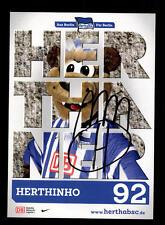 Herthinho Autogrammkarte Hertha BSC Berlin 2013-14 Original Sign+A 160085
