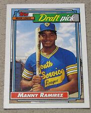 1992 Topps MANNY RAMIREZ #156 RC ROOKIE Draft Pick card Cleveland Indians NM/M