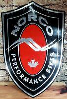 Norco Bicycles banner sign shop wall garage mountain bike downhill cycling trail