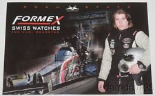 2015 Noah Stutz signed Formex Swiss Watches Top Fuel NHRA postcard