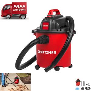 5 Gallon Portable Car Vacuum Cleaner 3 Peak HP Motor Wet Dry Shop Vac