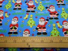 1 Yard Merry Christmas Santa Fabric
