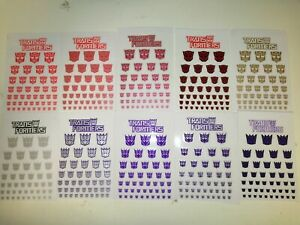 Transformers G1 Autobots & Decepticons Stickers Collection