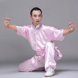 Silk Kung Fu Tai Chi Uniform Martial Arts Suit Wushu Changquan Outfit 6 Colors