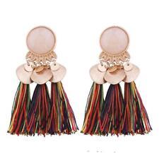 Vintage Lady Tassel Earrings Dangle Alloy Resin Bohemian Fashion Pendant Jewelry Colorful