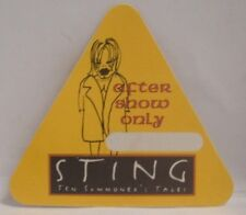 STING / THE POLICE - ORIGINAL CONCERT CLOTH TOUR BACKSTAGE PASS  ***LAST ONE***