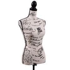 Female Dress Form Mannequin Torso Designer Pattern Display W/Black Tripod Stand