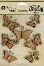 Wild Butterfly 7 Mix Craft Brown 35-40mmx20-30mm High Paper Darjeeling Petaloo