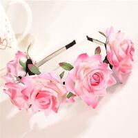 Flower Crown Wedding Festival Headband Hairband Floral Garland Headpiece PB