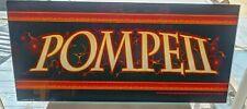 USED POMPEII Slot Machine Casino Glass Topper Insert