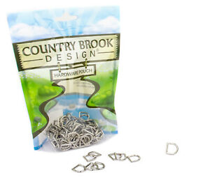 25 - Country Brook Design® 3/8 Inch Die Cast Square Bottom D-Rings