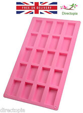 Silicone 20 Rectangle Petit Cakes Confectionery Chocolate Soap Ice Baking Mould
