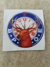 "BPOE ELKS LODGE CLUB FULL COLOR 2""  INCH EPOXY DOME CAR DECAL STICKER EMBLEM"