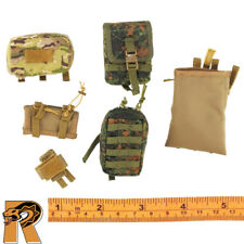 KSK Assaulter - Flektarn Pouches Set x6 - 1/6 Scale - Damtoys Action Figures