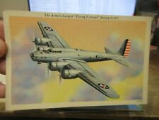 Other Old Postcard Airplane Plane Aircraft Army Flying Fortress Boeing B-17C Jet