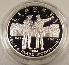 2004-P LEWIS & CLARK BICENTENNIAL COMMEMORATIVE SILVER PROOF DOLLAR