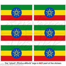 ETHIOPIA Ethiopian Flag Africa, 40mm Mobile Cell Phone Mini Stickers, Decals x6