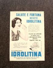 M265- Advertising Pubblicità -1960- IDROLITINA , SALUTE E FORTUNA