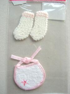 Sticker CreaMotion Strick - Socks for  Girl Baby Kleinkind Mädchen Scrapbooking