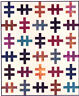 """SALE - One Track Mind - easy pieced quilt PATTERN for 2.5"""" strips - 4 sizes"""
