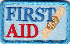"""FIRST AID""  Iron On Patch Nurse Profession Medical Medic"
