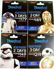 DISNEY DIAMOND 60TH ANNIV STAR WARS PARK TICKETS CP3O BB-8 R2D2 STORM TROOPER