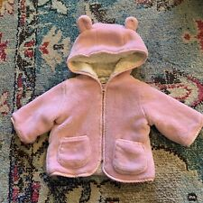 American Widgeon Coat Pink Faux Fur 6m Teddy Bear Ear Hood Soft