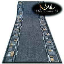 Runner Rugs, BOMBAY grey, modern NON-slip, Stairs Width 67cm-100cm extra long