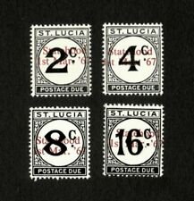 St. Lucia 1967 - Scott# J9-12 Postage Due with Overprint - Set of 4 Stamps - MNH