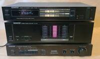 Kenwood KM-106 Stereo Power Amplifier - KT-56 Tuner - SS-78 Surround Processor