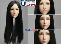 "1/6 Asian Female MOVABLE EYES Head Sculpt C For 12"" PHICEN Hot Toys Figure USA"