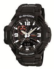 Casio GA1000-1A Men's G-Aviation Series Twin Sensor Black Ana-Digi G Shock Watch