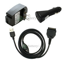 NEW HOT! SYNC/CAR/WALL Charger for PDA Sony Clie SJ20 SJ22 SJ30 SJ33 300+SOLD