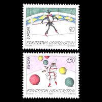 Liechtenstein 2002 - EUROPA Stamps - The Circus - Sc 1225/6 MNH