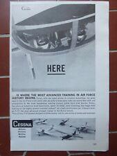 10/1960 PUB AVION CESSNA T-37 ADVANCED TRAINER US AIR FORCE USAF ORIGINAL AD