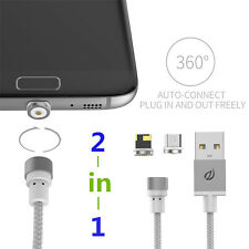 WSKEN Round Magnetic Micro USB Magnetic Charge Cable For iPhone & Samsung