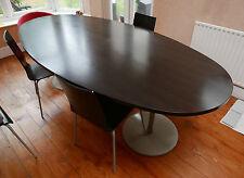"Large Habitat ""Orbit""? Oval Dining Table & 10! x""Verdi""? Chairs"